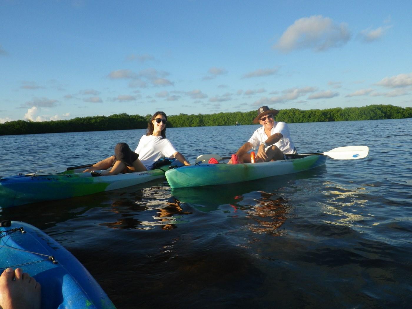 Canoe sur le lac